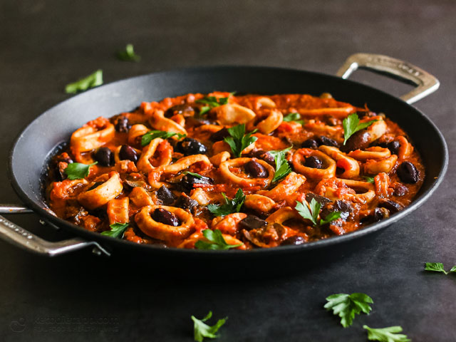 Low-Carb Greek Calamari Stew