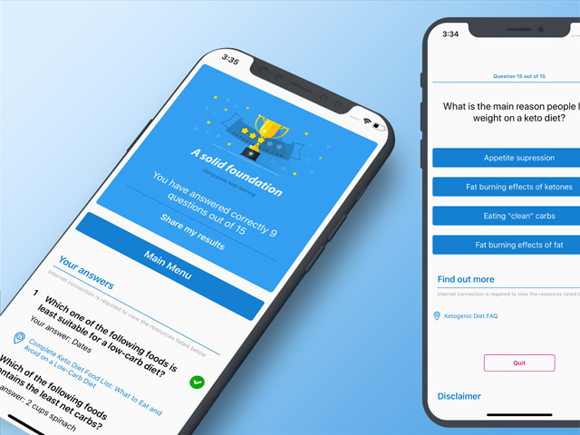 Announcing the New Free KetoDiet Quiz App!