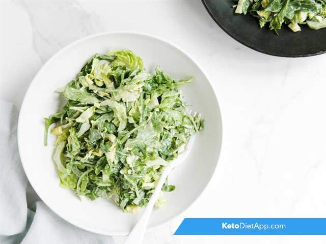Crispy greens with mayonnaise