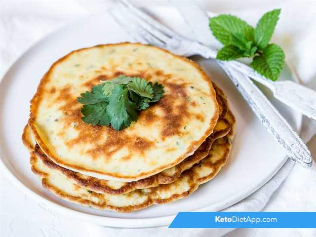 Savory cheese pancakes