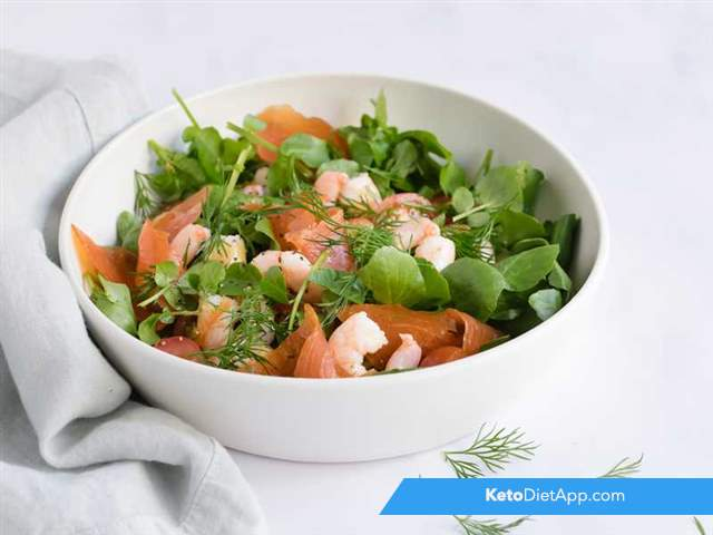 Quick prawn & salmon salad