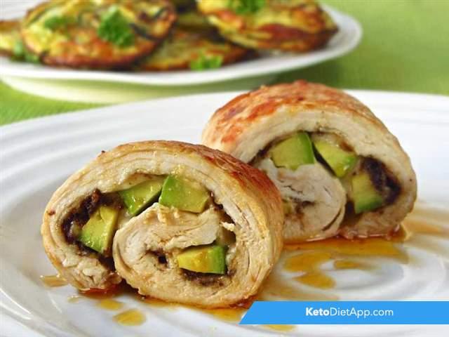 Turkey & avocado rolls