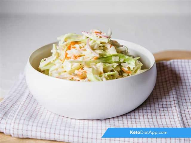Creamy keto coleslaw