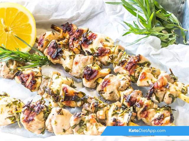 Lemon & herb chicken skewers