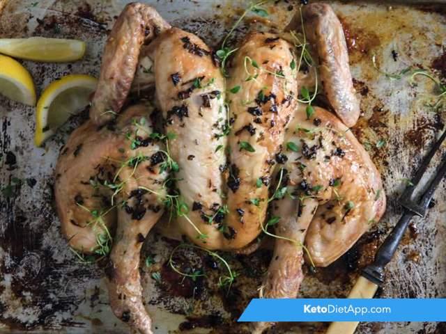Mediterranean spatchcock chicken