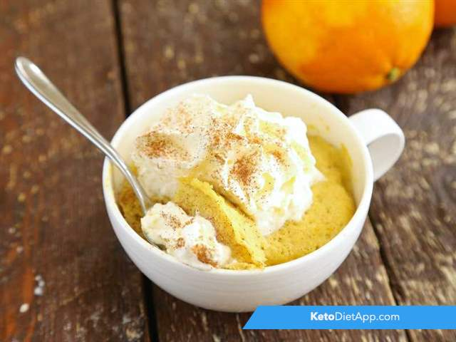 Spiced orange mug cake