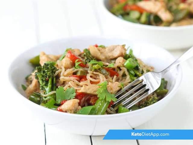 Pork noodle stir-fry