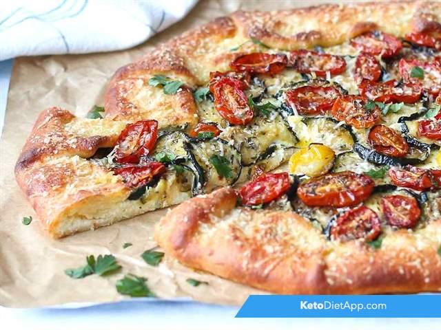 Zucchini & tomato cheese galette