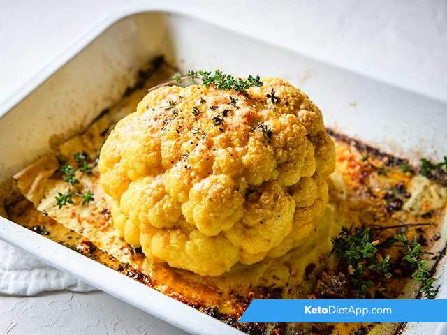 Golden roasted cauliflower
