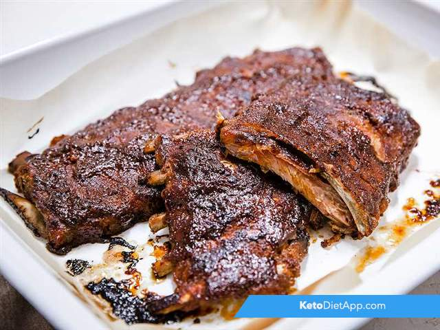 American style smothered ribs