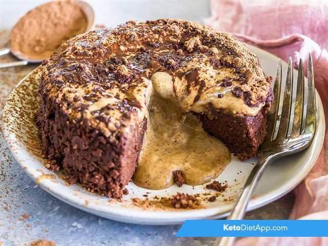 Almond butter lava cake