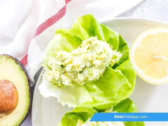 Avocado & egg lettuce cups