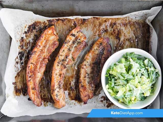 Juicy pork belly