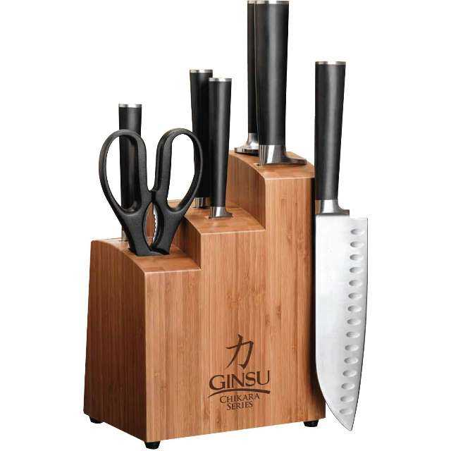 Ginsu Chikara 8-Piece Stainless Steel Knife Set