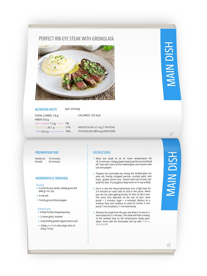 KetoDiet eBook Recipe Preview