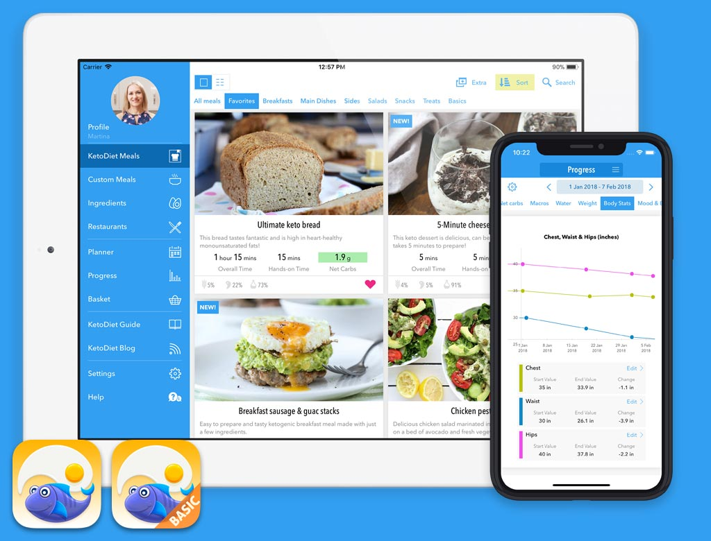The ultimate low carb diet app keto diet app ketodiet running on ipad and iphone x forumfinder Choice Image