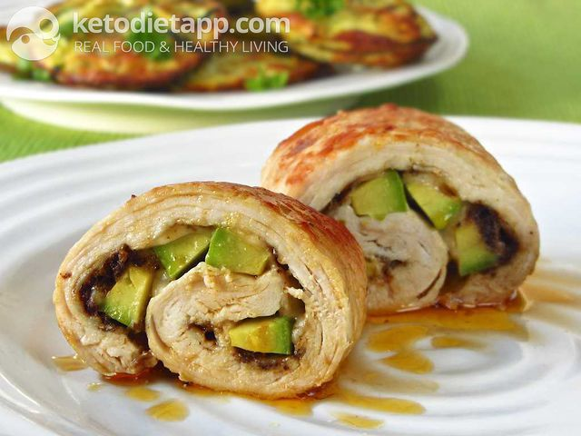 Turkey & avocado rolls