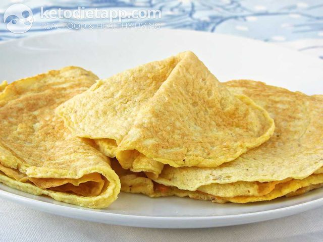 Keto meal - Essential keto crepes | KetoDiet Nutrition Facts