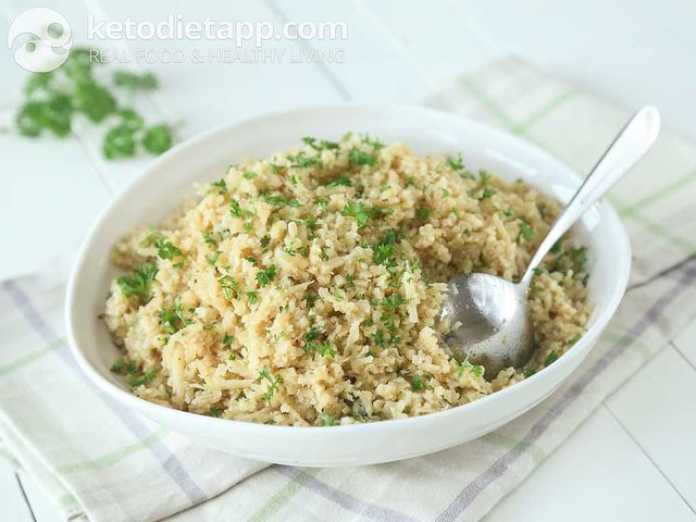 Low-carb rice pilaf