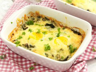 Spinach & egg breakfast bake