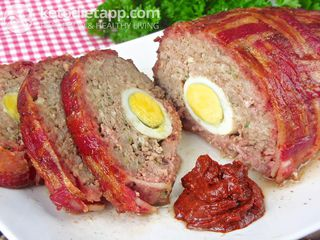 Bacon-wrapped meatloaf