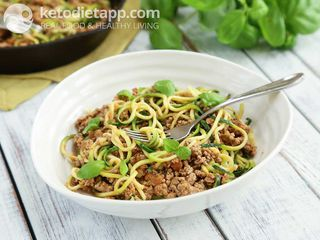 "Turkey ragu with ""zoodles"""