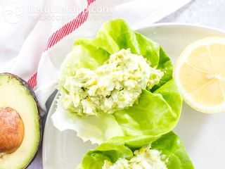 Avocado & egg lettuce cups