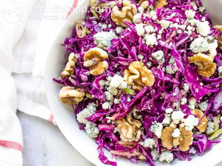 Red cabbage & blue cheese salad