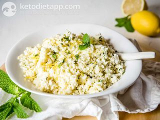 Creamy lemon cauli-rice