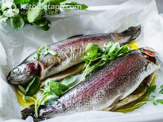 Simple grilled trout