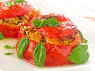 "Saffron ""rice-stuffed"" tomatoes"
