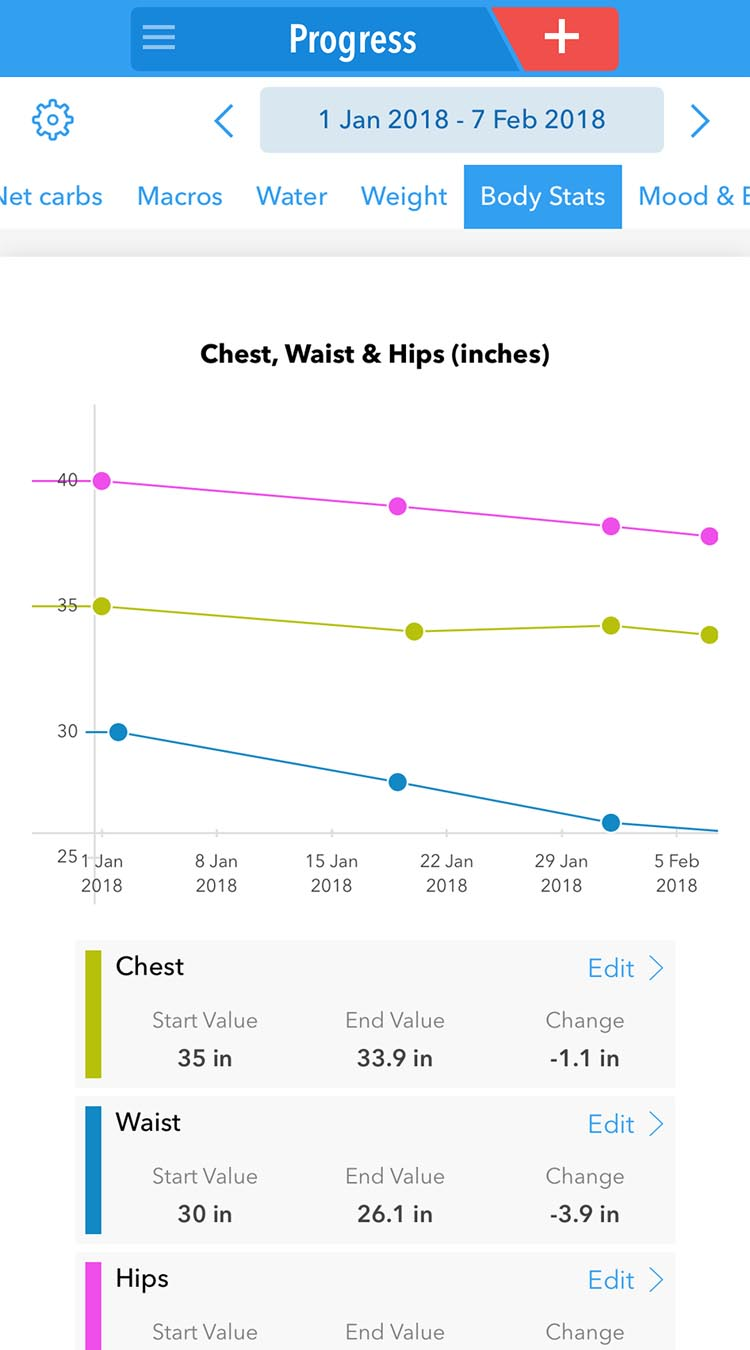 KetoDiet app progress