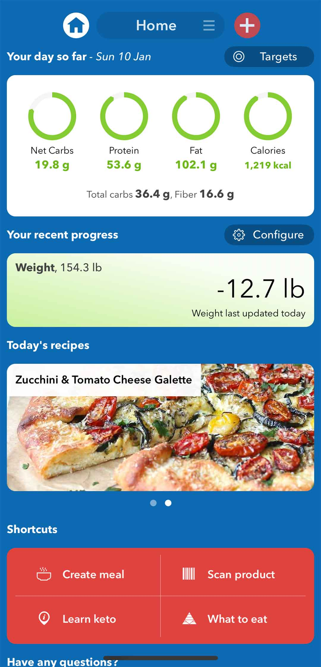 KetoDiet App Feature Summary