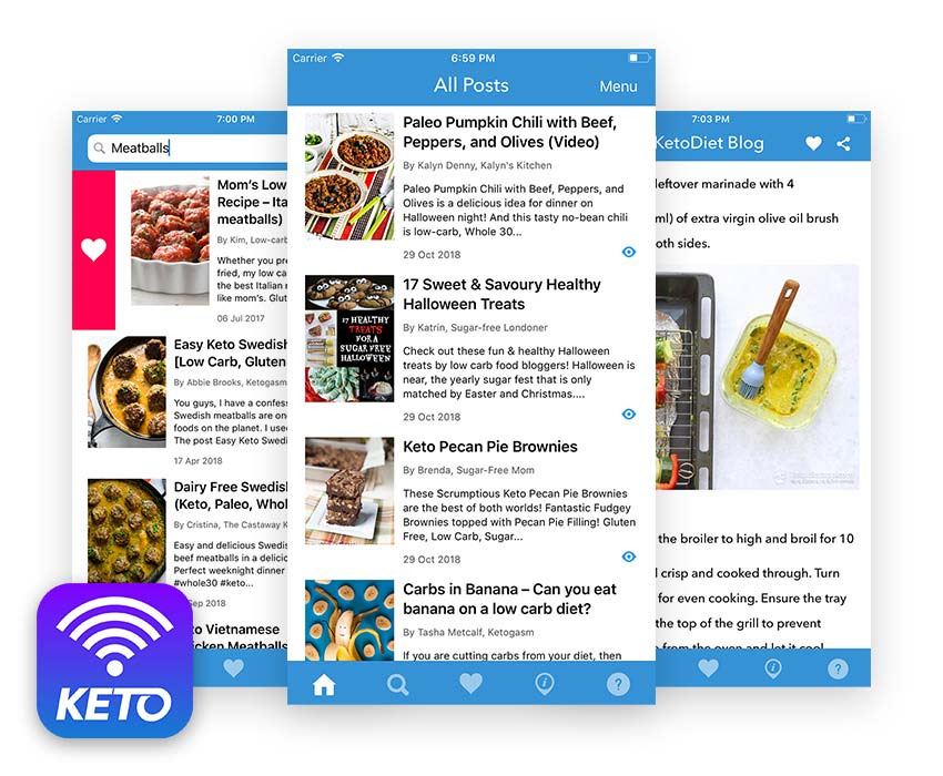 Keto App - Discover the best keto recipes, articles and guides to inspire your low carb lifestyle!